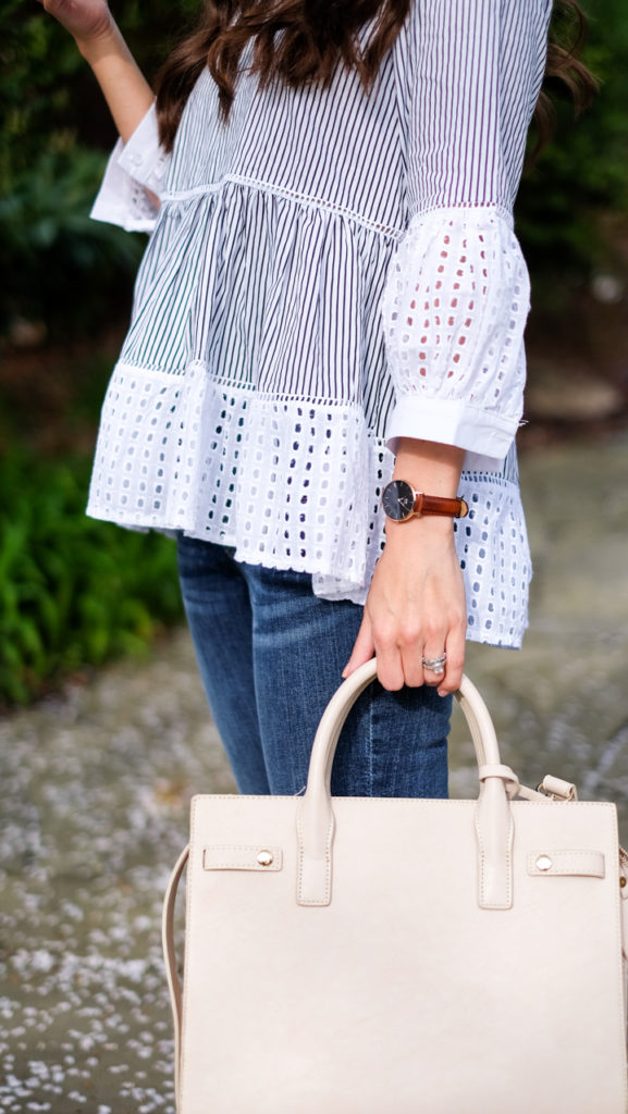sole society ivory bag outfit