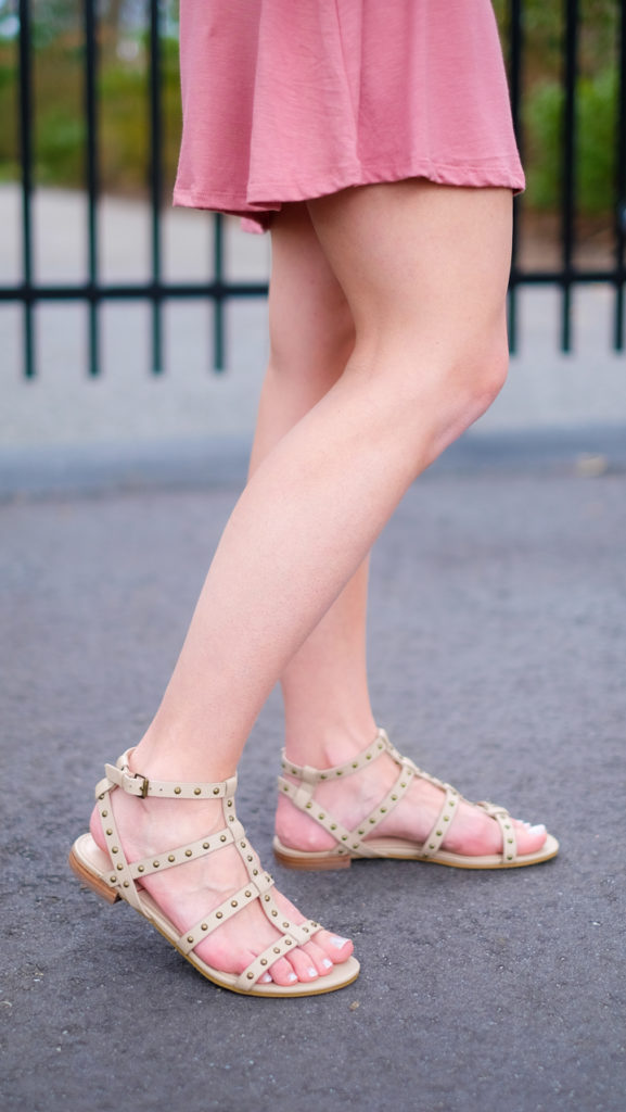 sole society studded flat sandals
