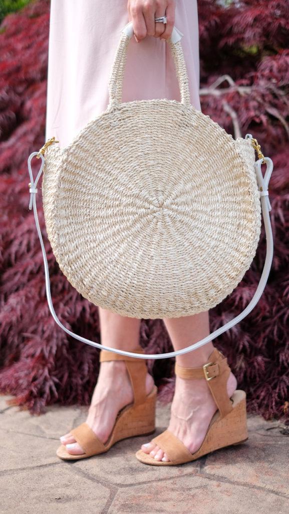 Clare V alice sisal round basket bag