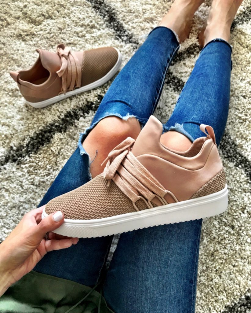 Steve Madden blush sneakers