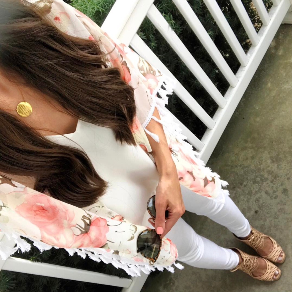 floral kimono outfit