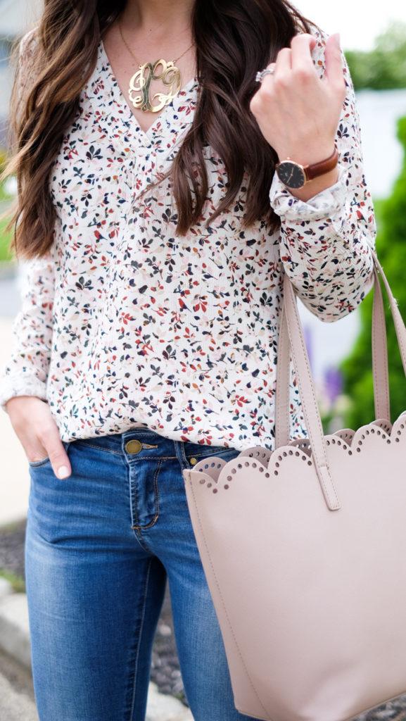 hinge floral printed shirt