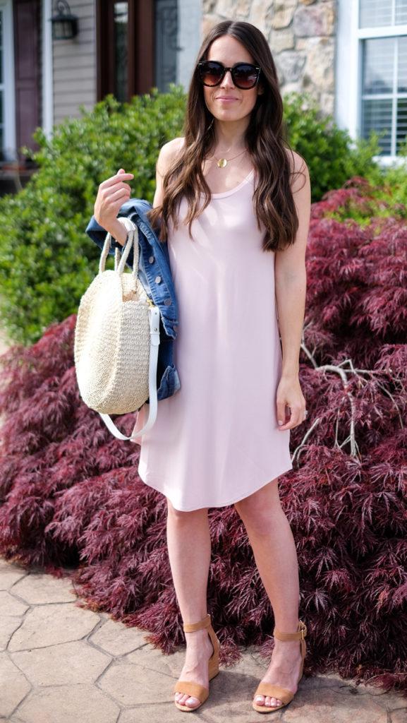 leith sleeveless light pink dress