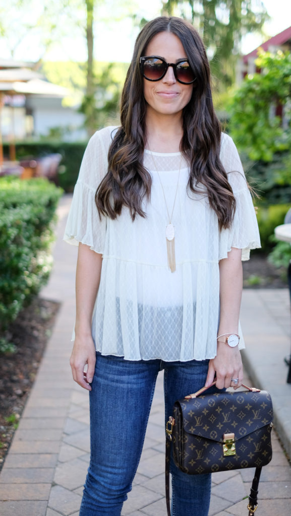 white lace peplum outfit