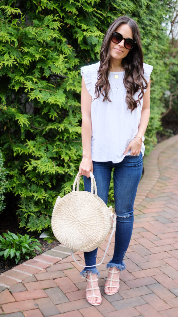 white tank summer outfit