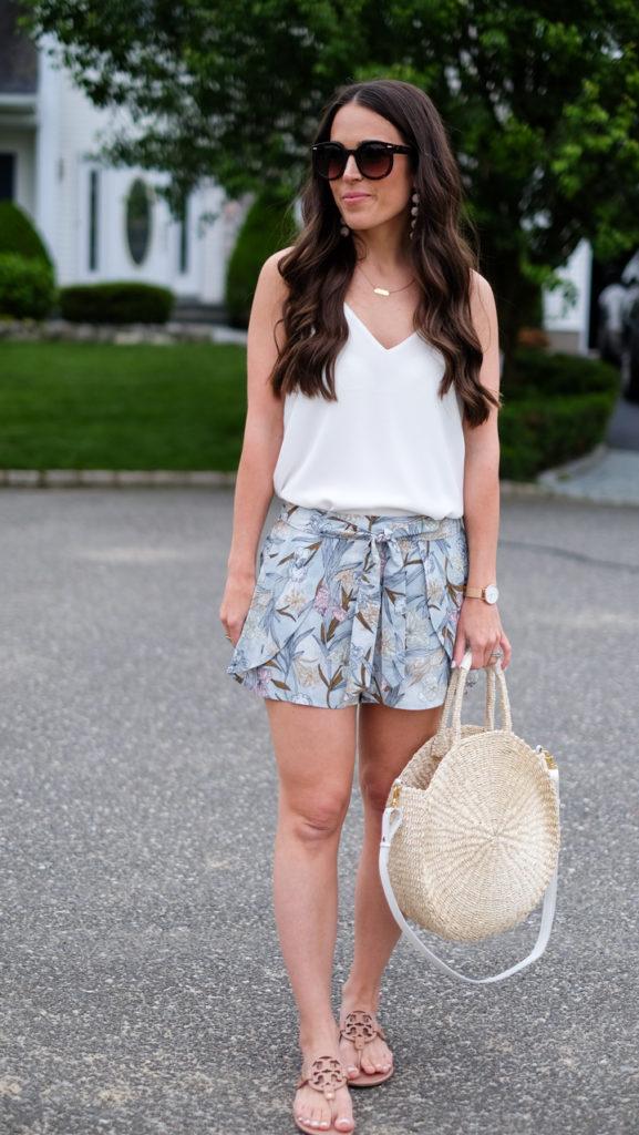 BP floral print shorts