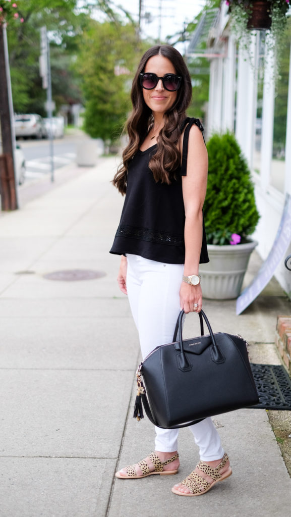 black and white sumer outfit