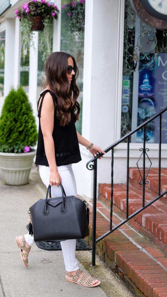 black givenchy antigona outfit