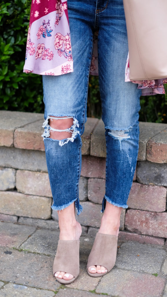 boyfriend jeans and BP mules