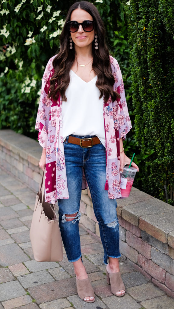 bp mules and kimono outfit