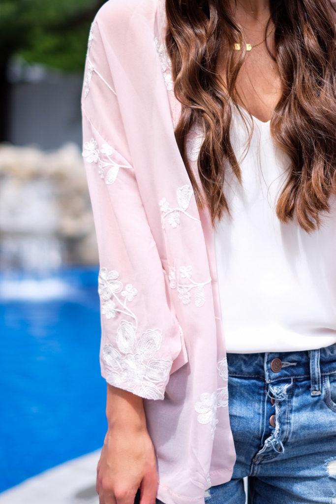 pink summer kimono