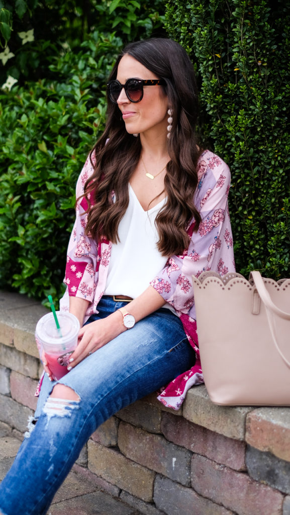 scallop tote outfit