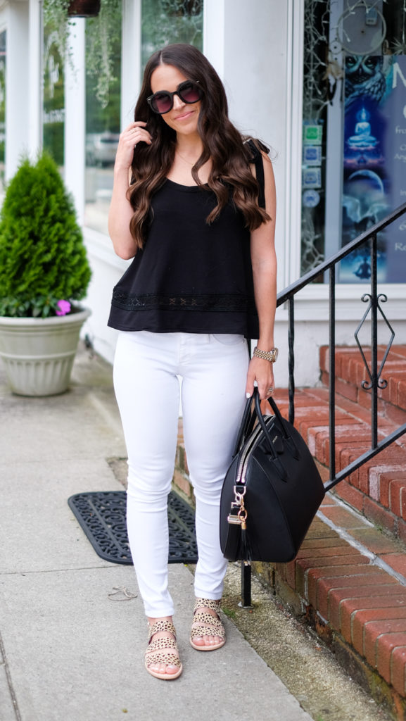 white jeans summer outfit