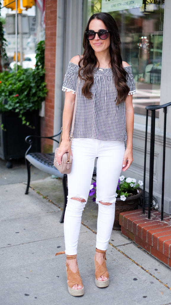 Black and white gingham outfit
