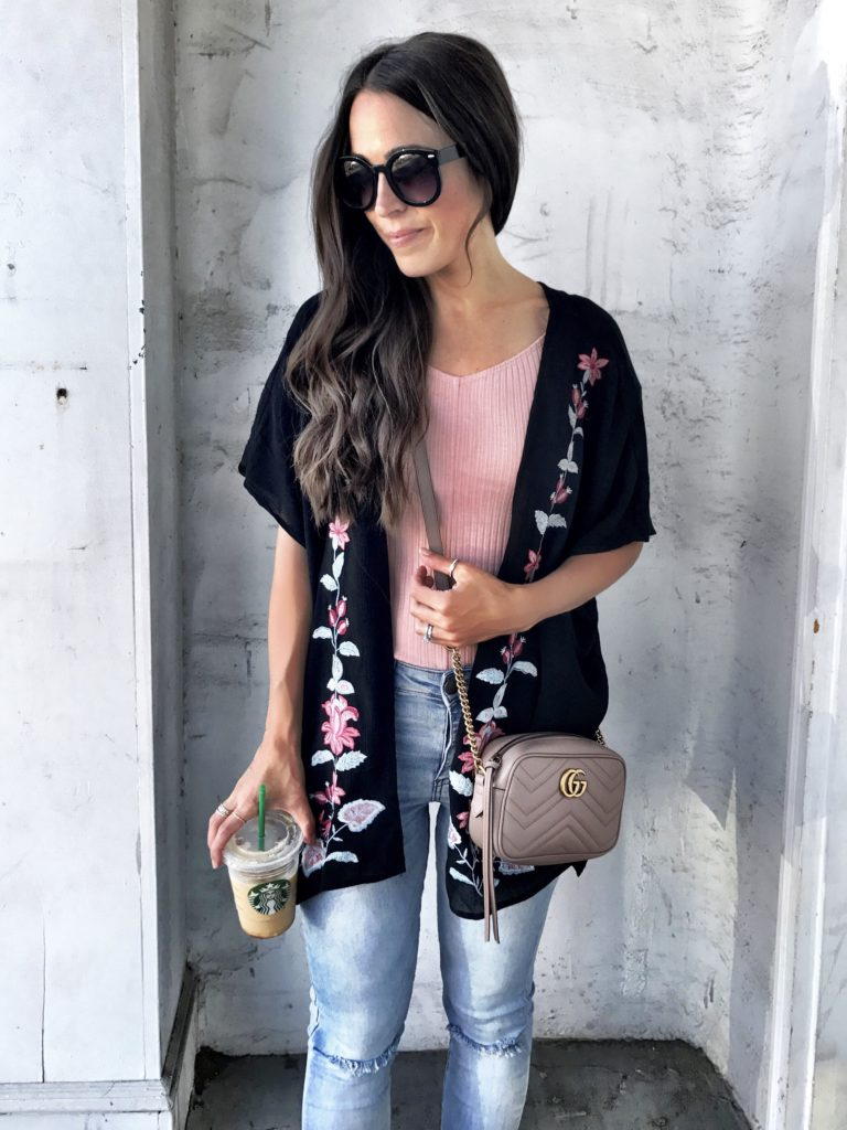 Chloe and Katie embroidered kimono