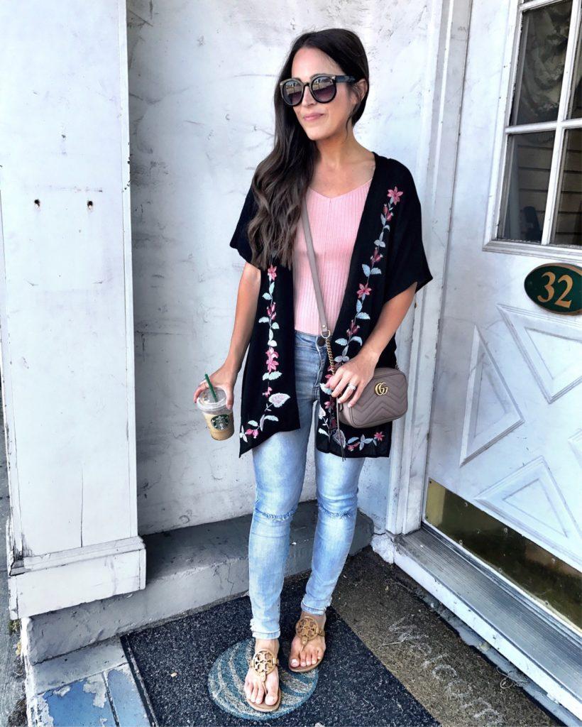casual kimono outfit