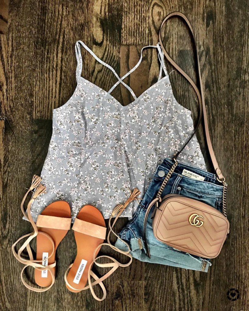 floral cami outfit