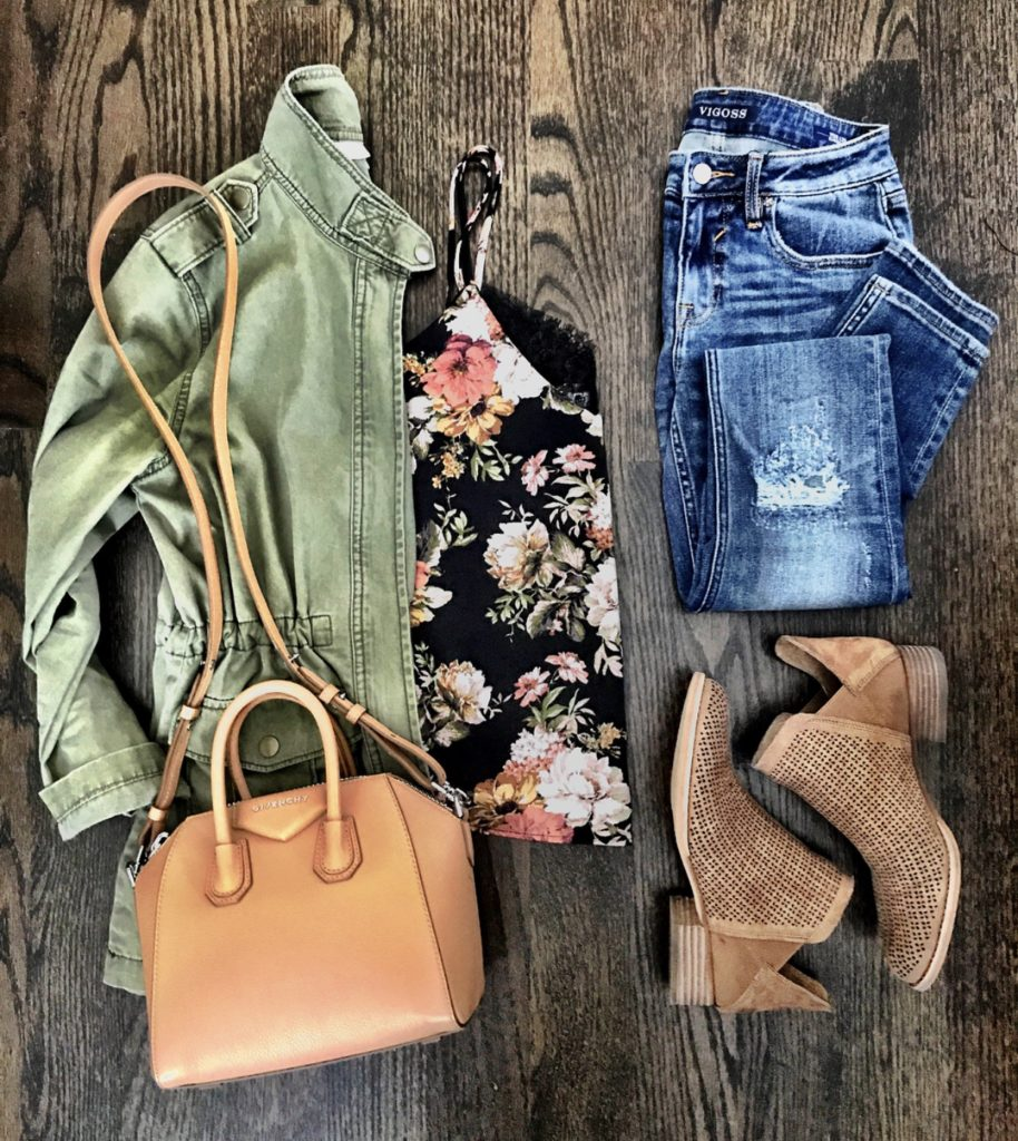 Floral Cami Fall outfit
