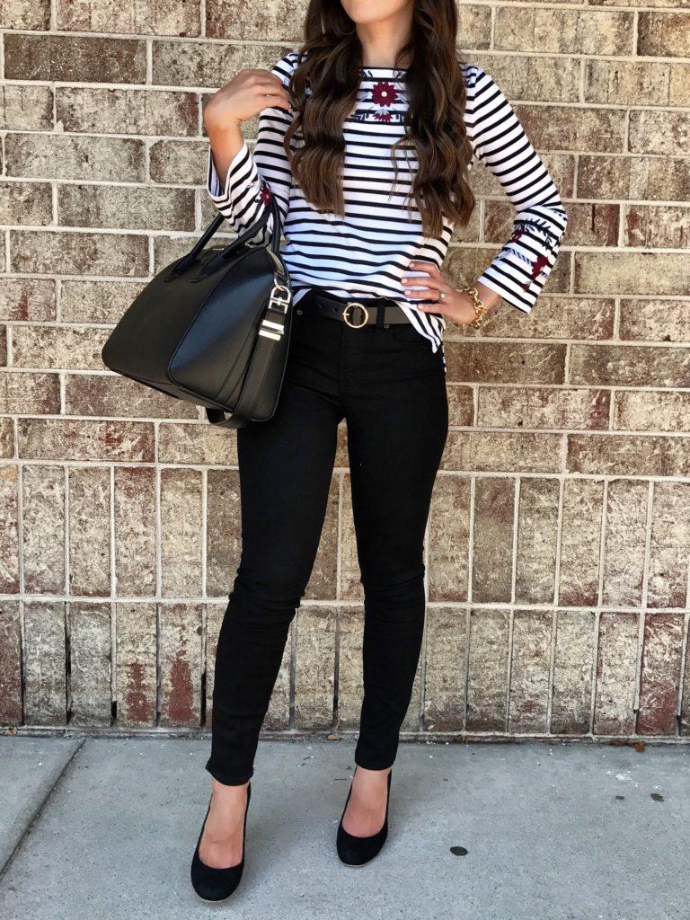 black pants teacher outfit