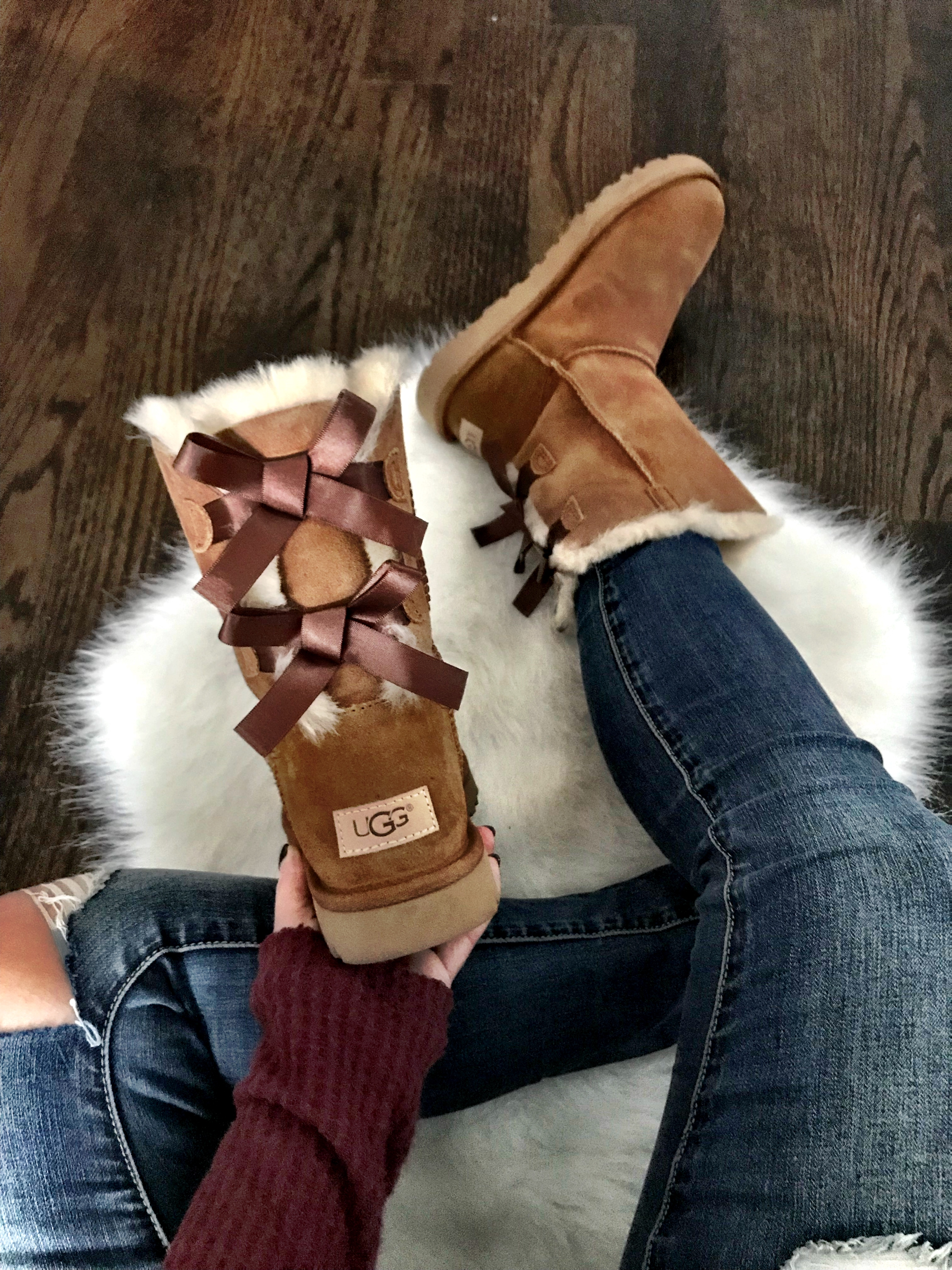 UGG Bailey Button II – I've had these for a long time and I'm amazed how well they held up. It's a classic style that looks cute with any outfit.